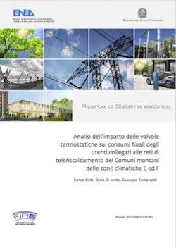 Analisi dell'impatto delle valvole termostatiche sui consumi finali degli utenti collegati alle reti di teleriscaldamento dei Comuni montani delle zone climatiche E ed F